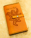 Leather Game of Thrones House Lannister Moleskine Notebook Cover