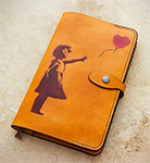 Leather Banksy Moleskine Notebook Cover